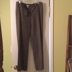 Chocolate brown speckled wool trousers